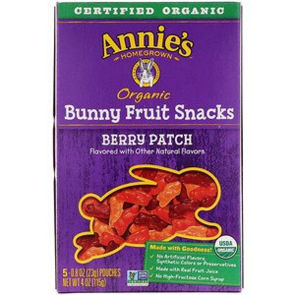 Annie's Homegrown, Organic Bunny Fruit Snacks